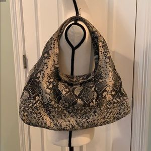 Antonio Melani Real Snake Skin Boho Bag
